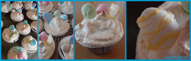 Påske cupcakes med sukkeræg